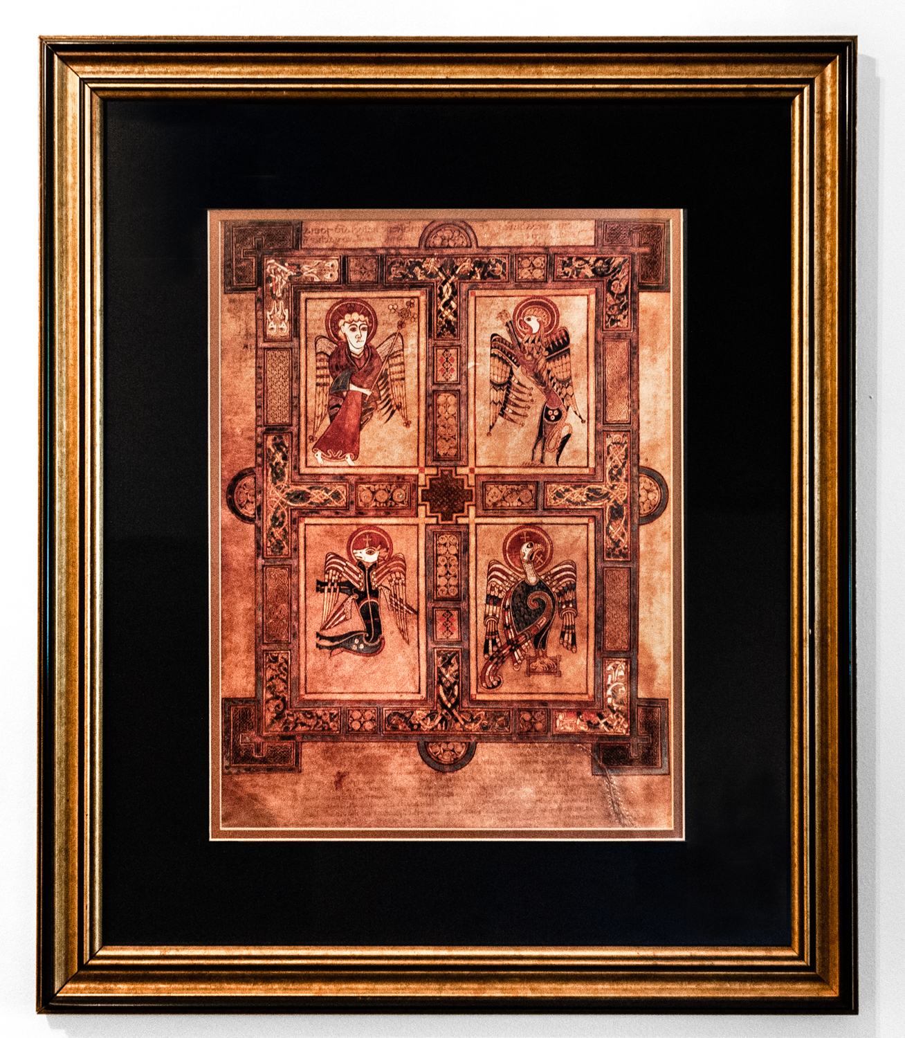 45-Book of Kells (Symbols of the Four Evangelists) 20x25