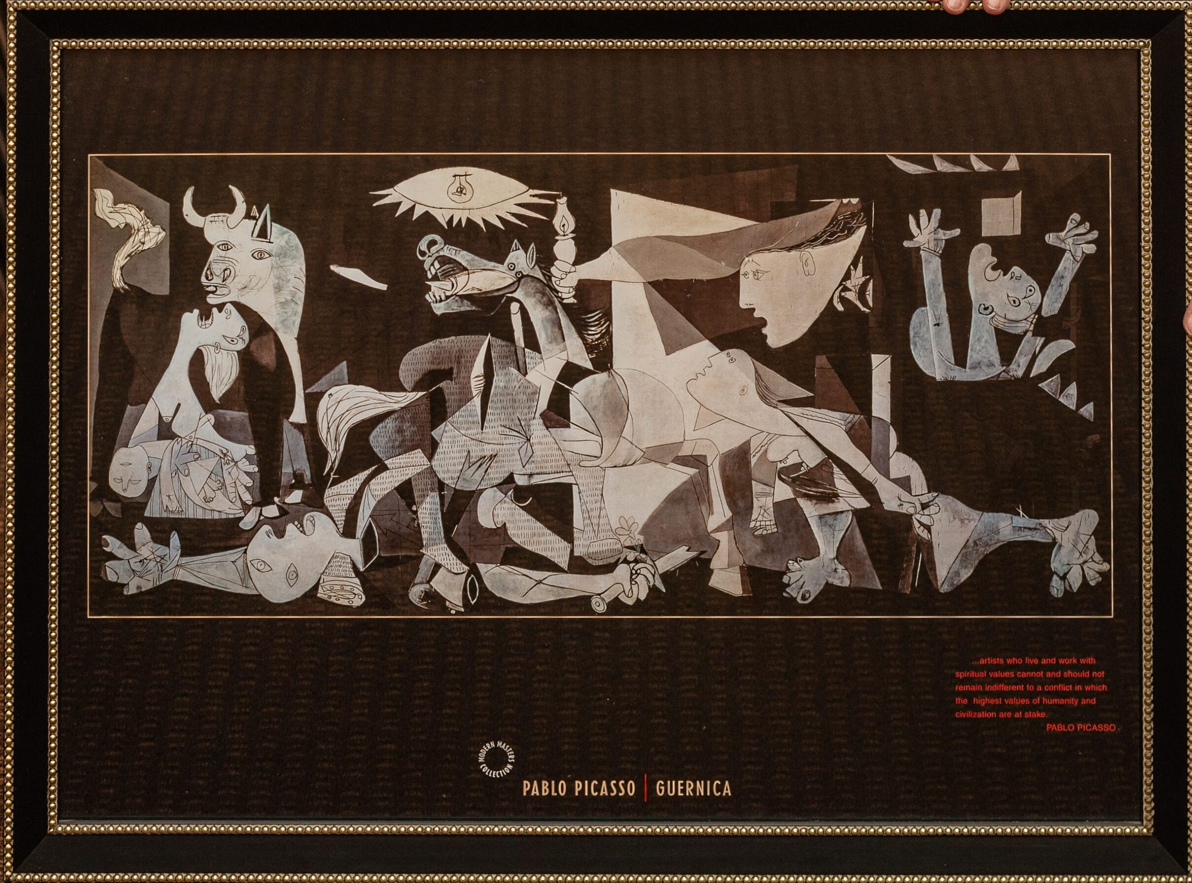Guernica by Pablo Picasso 28x16