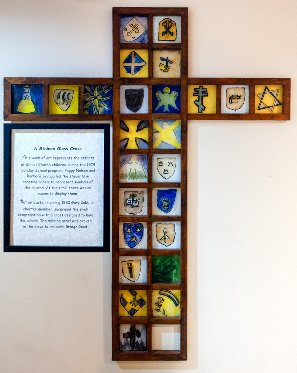 Stained Glass Cross+commentary