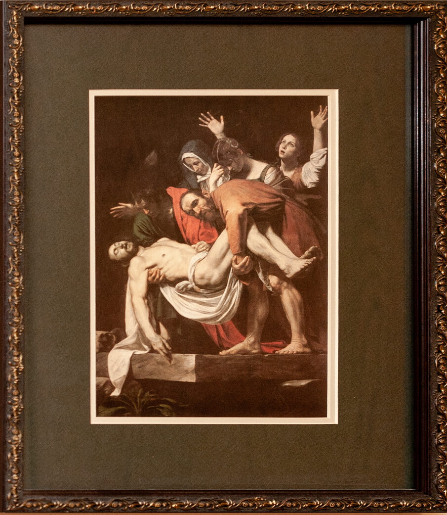 the Deposition by Caravaggio 12x13