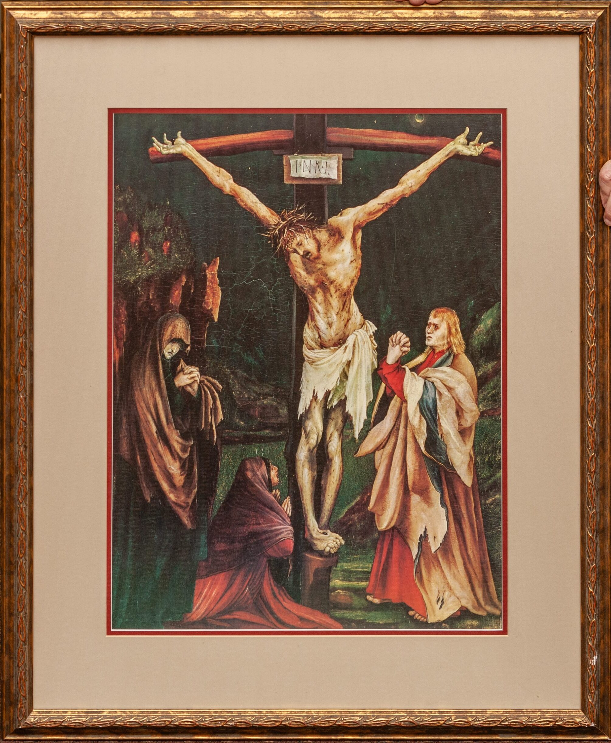 the Small Crucifixion by Mathis Grunewald 24x32
